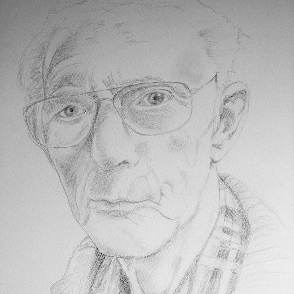 portretopdracht getekend met potlood