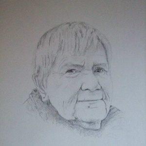 getekend portret oma's