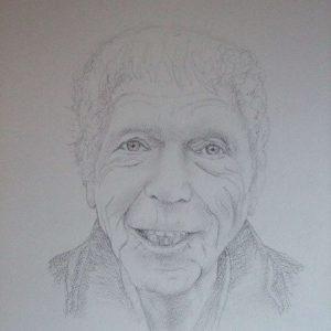 getekend portret opa's