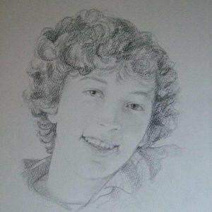 getekend portret jongeren