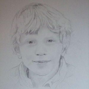 getekend portret kinderen